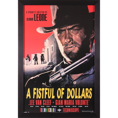 A Fistful of Dollars Framed Vintage Advertisement