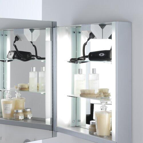 Astro Lighting Livorno Illuminated Cabinet - With Shaver Socket
