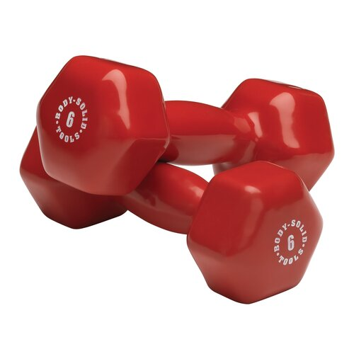 Body Solid Vinyl Dumbbell in Red