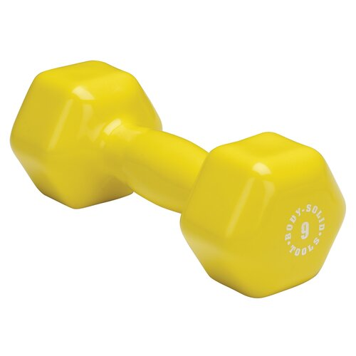 Vinyl Dumbbell in Yellow