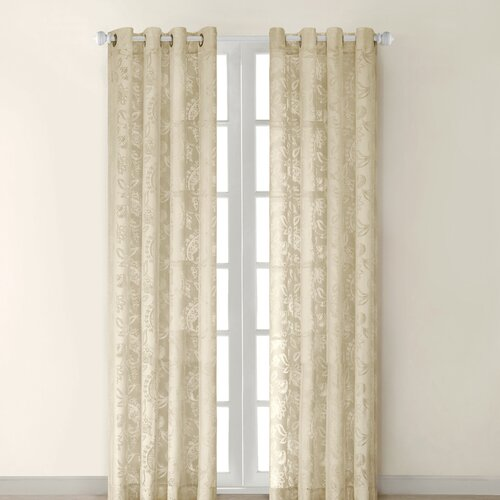 JLA Home Figaro Silk Grommet Window Curtain Single Panel