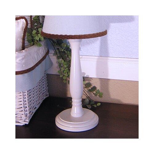 Brandee Danielle Blue Chocolate White Candlesitck Lamp Base