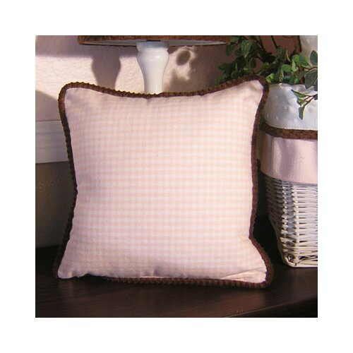 Brandee Danielle Pink Chocolate Gingham Pillow