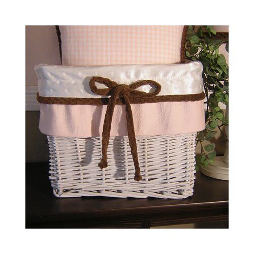 Pink Chocolate Wicker Basket