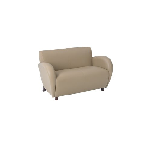 Embrace - Eco Leather Loveseat in Mocha