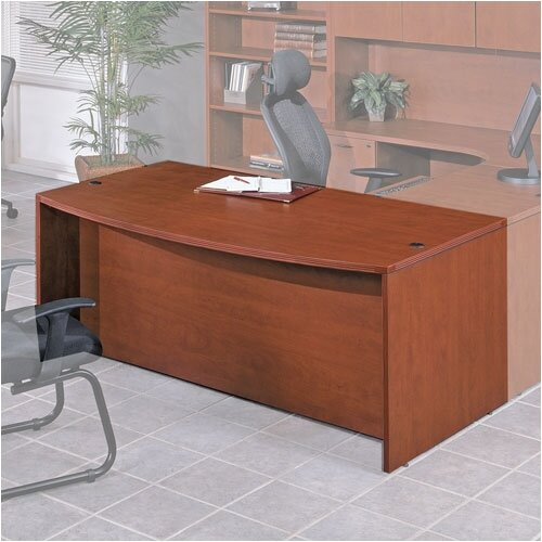 OSP Furniture Napa Bow Front Desk