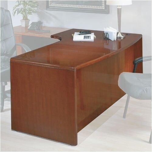 OSP Furniture Sonoma Left Corner Bow Front Desk Shell