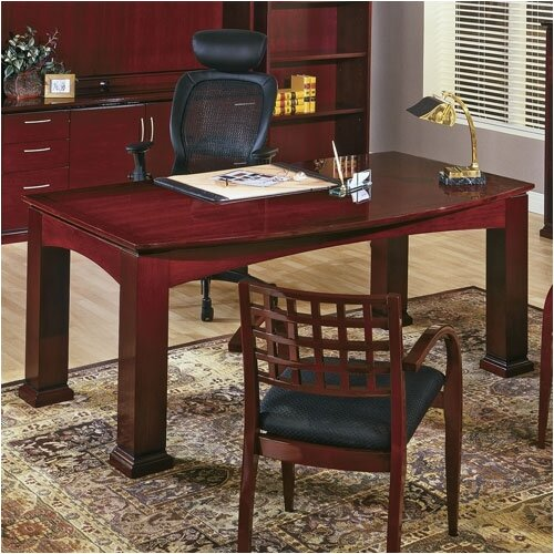 OSP Furniture Mendocino Bow Front Table Writing Desk