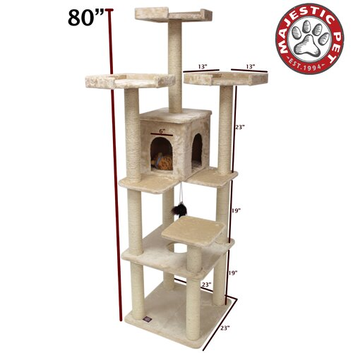 "Majestic Pet Products 80"" Casita Fur Cat Tree"