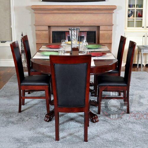 BBO Poker Premier 8 Piece Poker Dining Table Set with Lounge Chairs