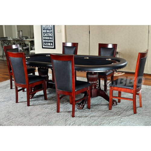 BBO Poker Rockwell 8 Piece Poker Dining Table Set with Dining Chairs