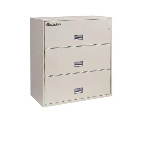 """Sentry Safe Sentry®Safe 35.8"""" W x 20.5"""" D 3-Drawer Fireproof Key Lock Letter File Safe"""