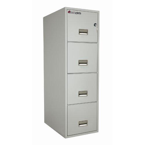 """Sentry Safe 16.6"""" W x 25"""" D 4-Drawer Fireproof Key Lock Letter File Safe"""