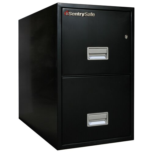 "Sentry Safe 19.6"" W x 31"" D 2-Drawer Fireproof Key Lock Letter File Safe"