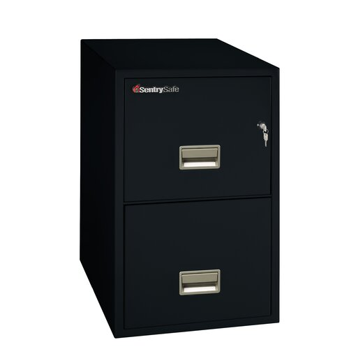 "Sentry Safe 16.6"" W x 31"" D 2-Drawer Fireproof Key Lock Letter File Safe"