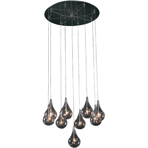 Wildon Home ® Sklo 9 - Light Multi - Light Pendant