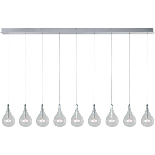 Wildon Home ® Sklo 9 - Light Linear Pendant