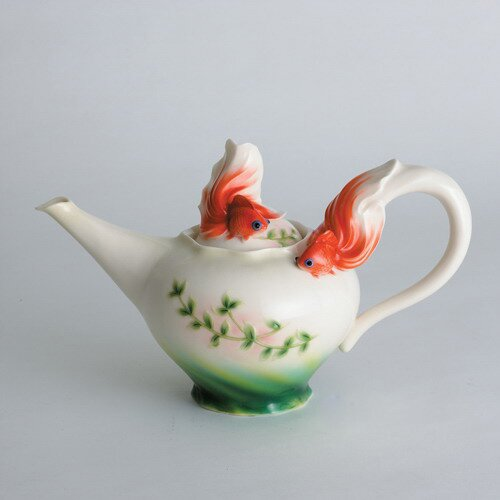 Franz Collection Goldfish Teapot