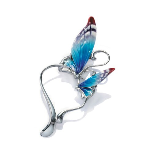 Franz Collection Butterfly Heart Shape Pin