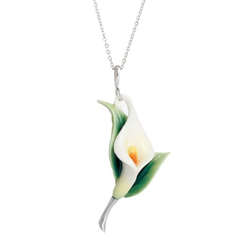 Calla Lily Flower Necklace
