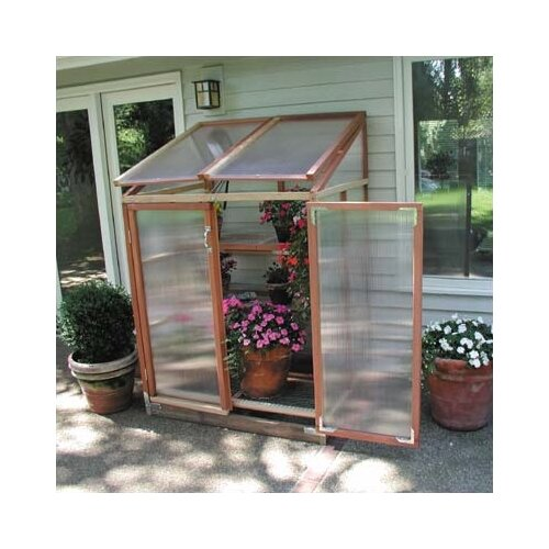 Sunshine Gardenhouse Patio GardenHouse 4' x 3' Polycarbonate Lean-To Greenhouse