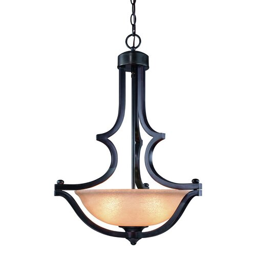 Garrison 3 Light Inverted Pendant
