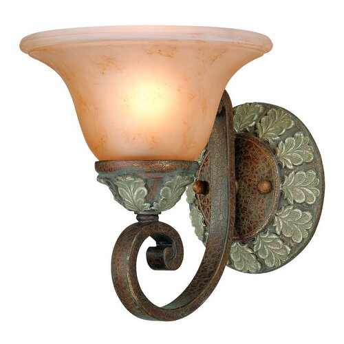 Dolan Designs Windsor 1 Light Wall Sconce with Backplate