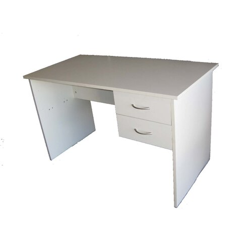 Cooper Furniture Student Desk with Two Drawers in White