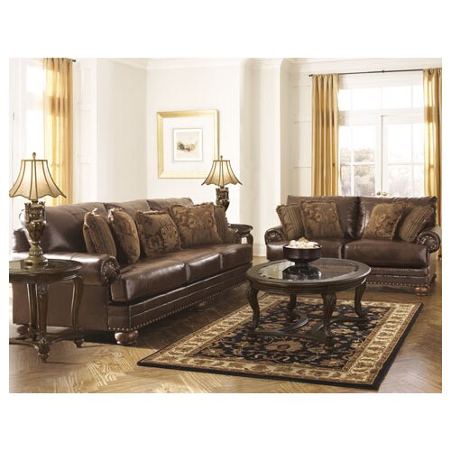 Signature Design by Ashley Leighton Leather Loveseat