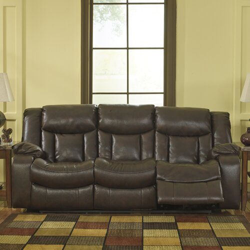 Chaise reclining sofa wayfair for Ashley furniture reclining chaise lounge