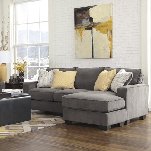 Signature design by ashley hollins chaise sofa reviews for Ashley furniture couch with chaise