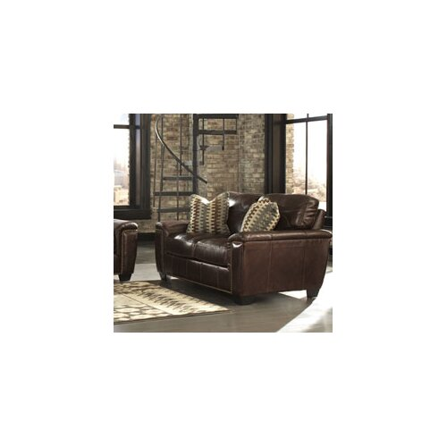 Steele Leather Loveseat