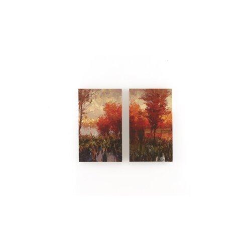 2 Piece Painting Print on Canvas Set