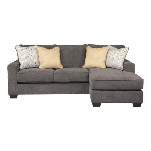 Signature design by ashley hollins chaise sofa reviews for Ashley hodan sofa chaise