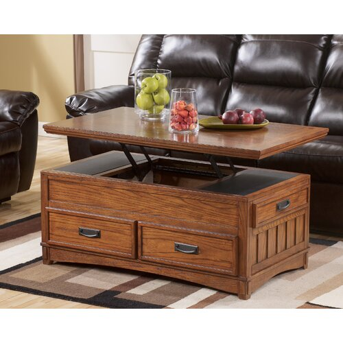Ashley Trunk Coffee Table   Signature Design By Ashley Castle Hill Trunk  Coffee Table