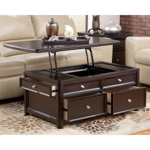 Signature Design By Ashley Canaan Trunk Coffee Table With Lift Top Reviews Wayfair