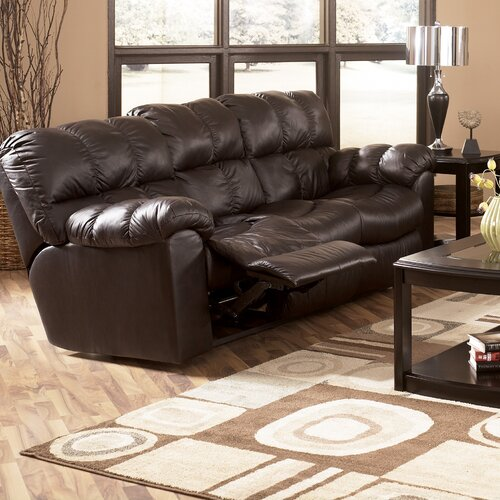 Valley Leather Reclining Sofa