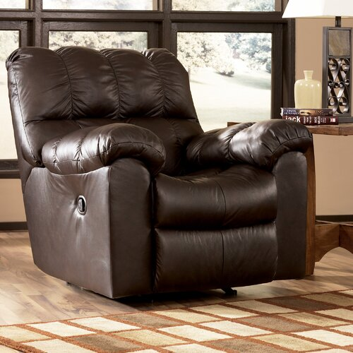 Signature Design by Ashley Valley Leather Chaise Recliner