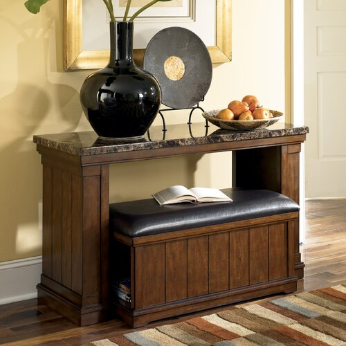 Signature Design by Ashley Mapleton Console Table with Ottoman