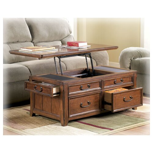 Barrett Trunk Coffee Table With Lift Top: Signature Design By Ashley Woolwich Trunk Coffee Table
