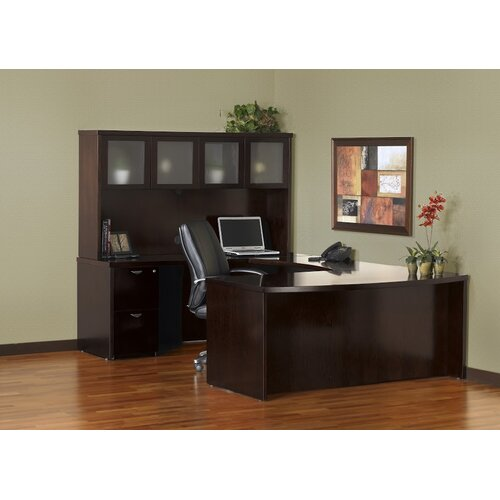 Mayline Group Mira Series U-Shape Executive Desk Typical #9
