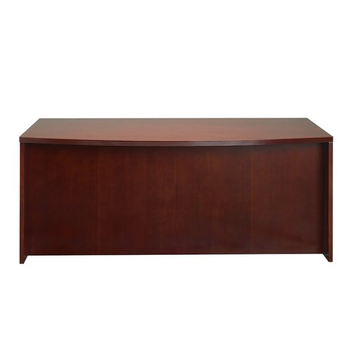 Mayline Group Luminary Series Credenza Desk with Bow Front