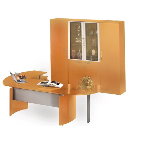 Mayline Group Napoli Series L-Shape Desk Office Suite
