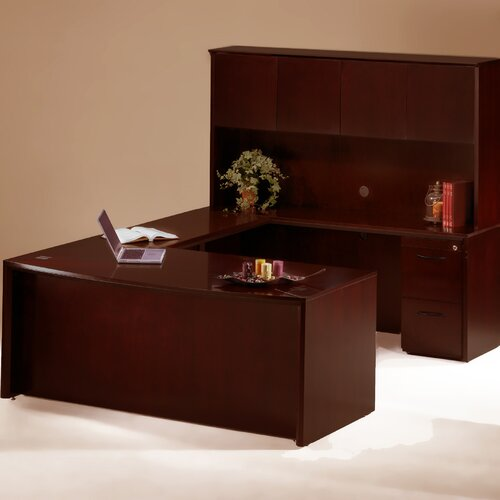 Mayline Group Corsica Series U-Shape Executive Desk with Hutch