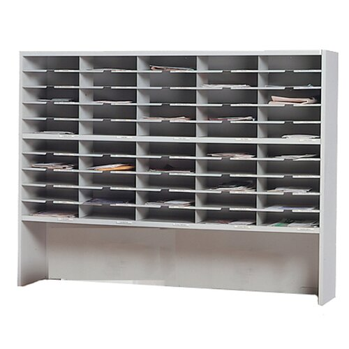 Mayline Group Mailroom 2-Tier 50 Pocket Riser Sorter