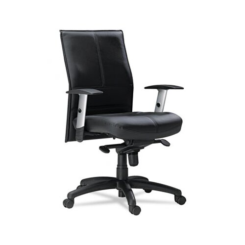 Mayline Group Silhouette Mid-Back Leather Office Chair