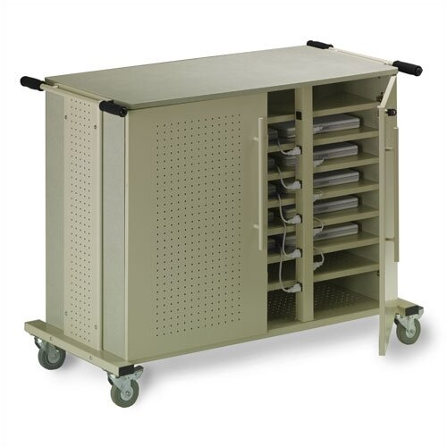 24-Compartment Laptop Cart