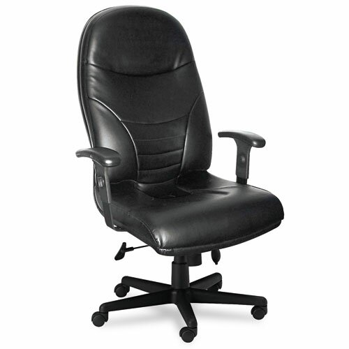 High-Back Leather Executive Chair with Arms