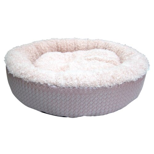 Best Pet Supplies Faux Leather Round Dog Bed
