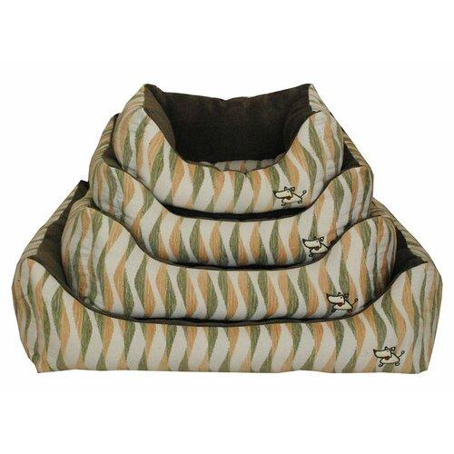 Waves Bolster Dog Bed